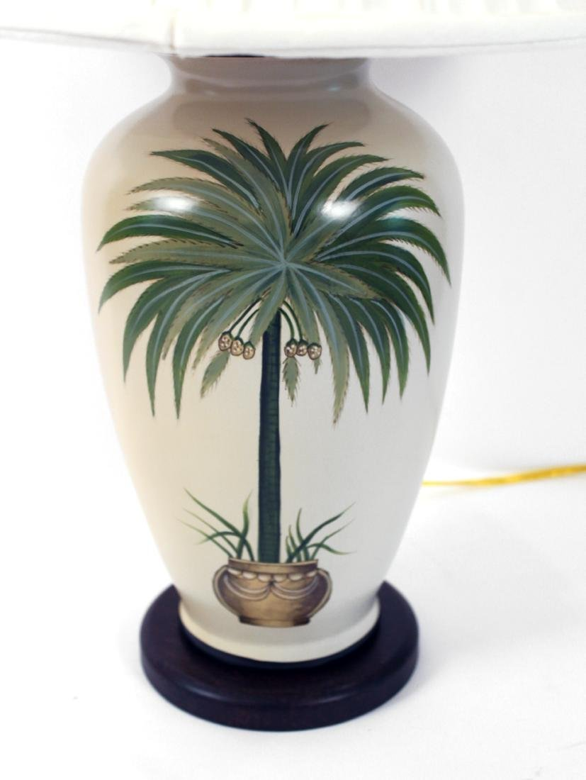Pair of Palm Tree Decorated Lamps - 2