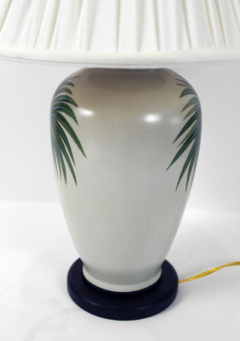 Pair of Palm Tree Decorated Lamps - 3