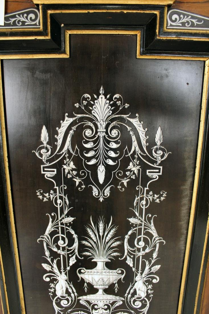 Pair of 19th Century Mother of Pearl Inlaid Cabinet - 5