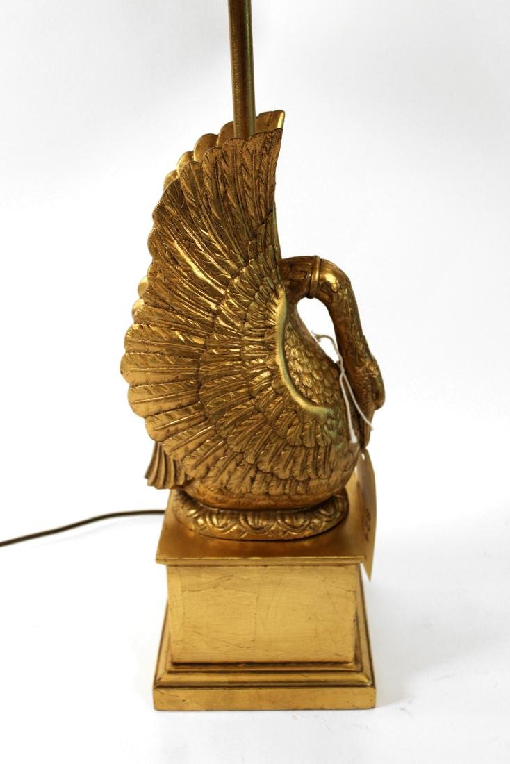 Carved Gilt Swan Table Lamp - 3