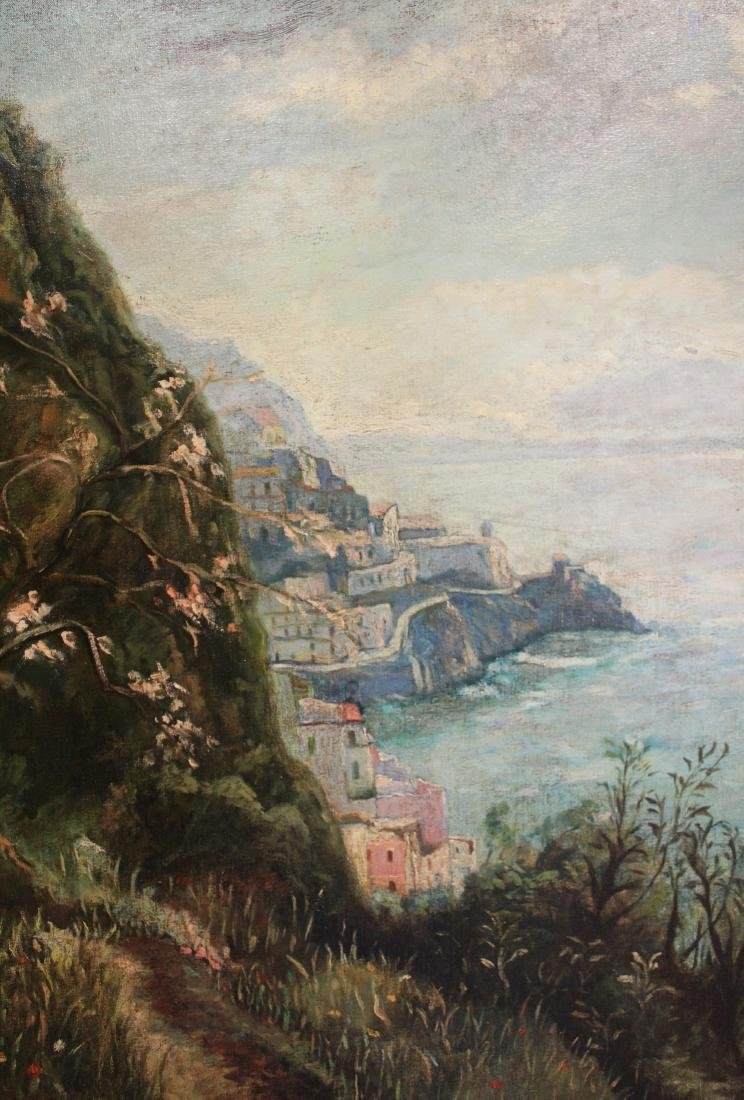 Jonin Estraon, Oil. Harbor Scene. - 2