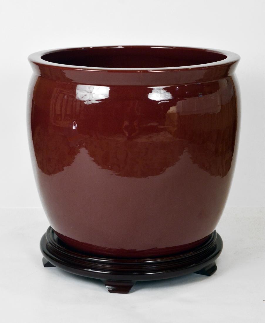 Pair of Pottery Jardinieres
