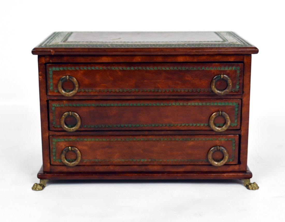 Burled Wood Jewelry Box