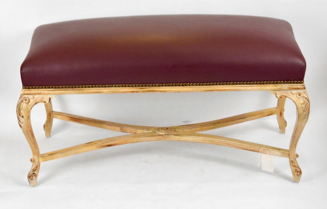 """French Influenced """"Leather"""" Bench"""