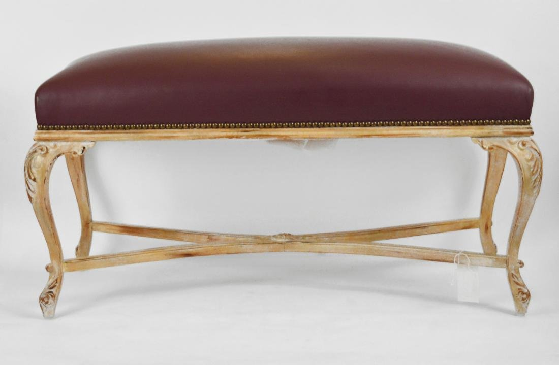"""French Influenced """"Leather"""" Bench - 2"""
