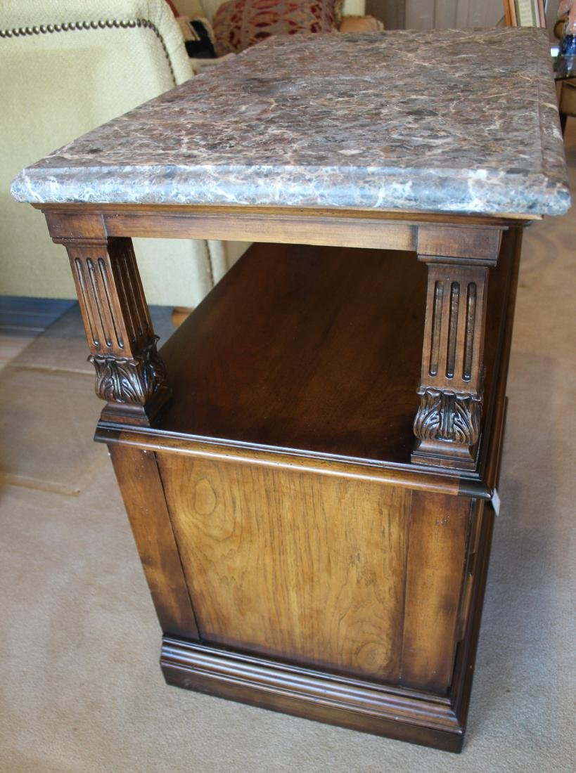 Marble Topped Two Drawer Chest - 3