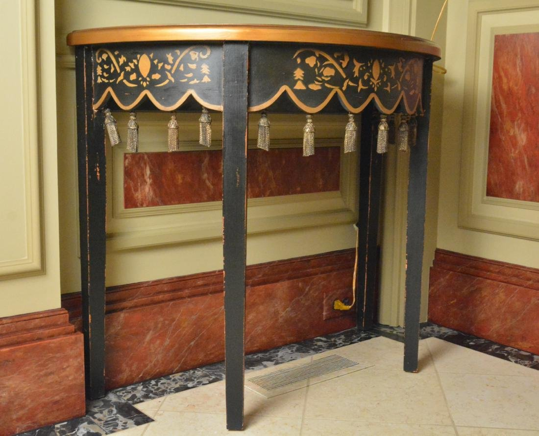 Oriental Style Lacquered Table - 2