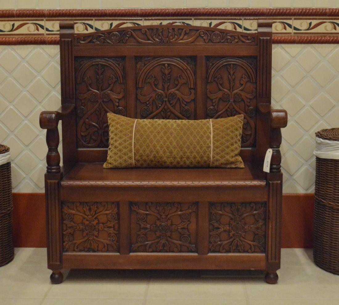 Jacobean Style Alderwood Bench