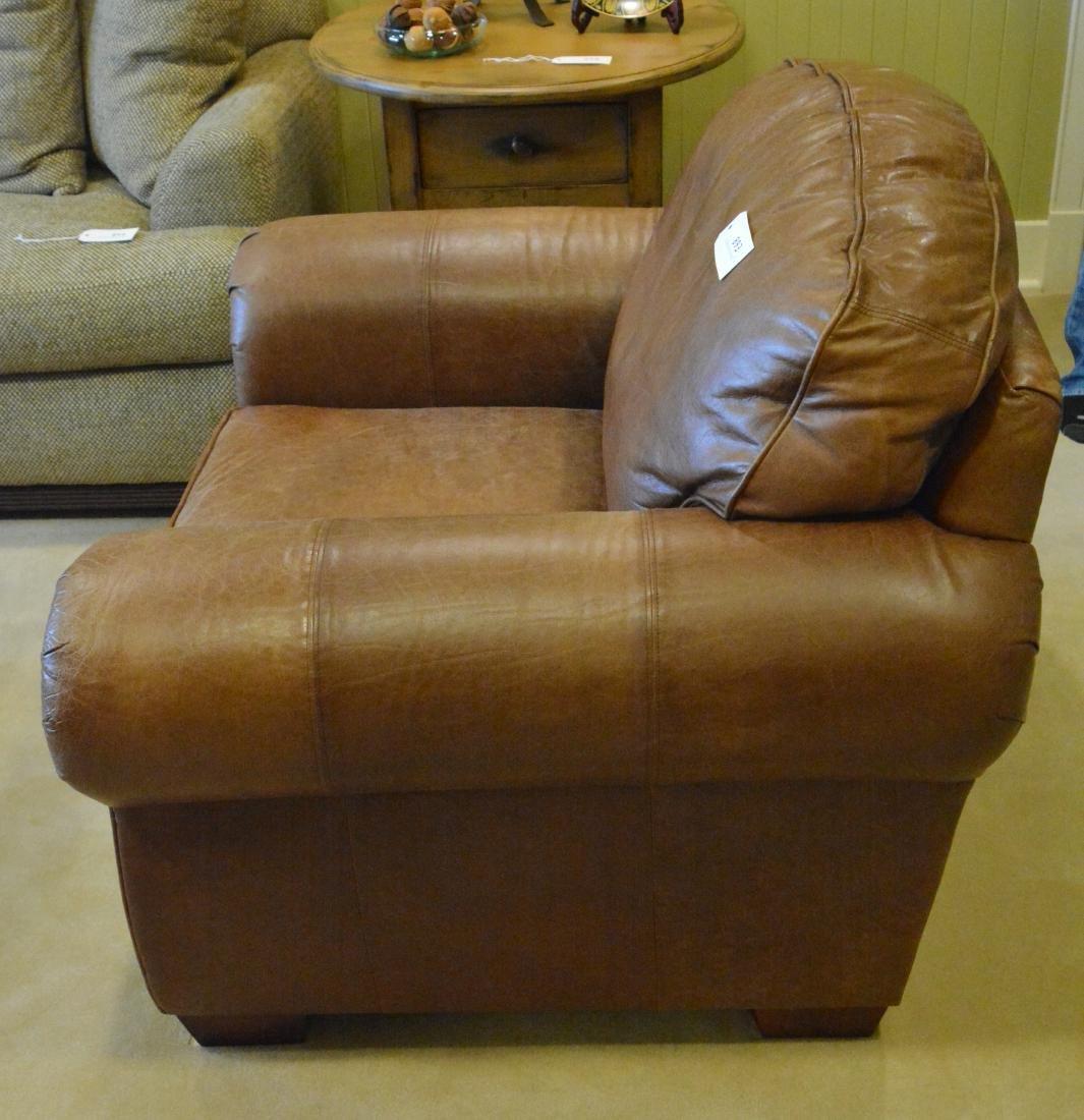 Art Deco Leather Club Chair - 2