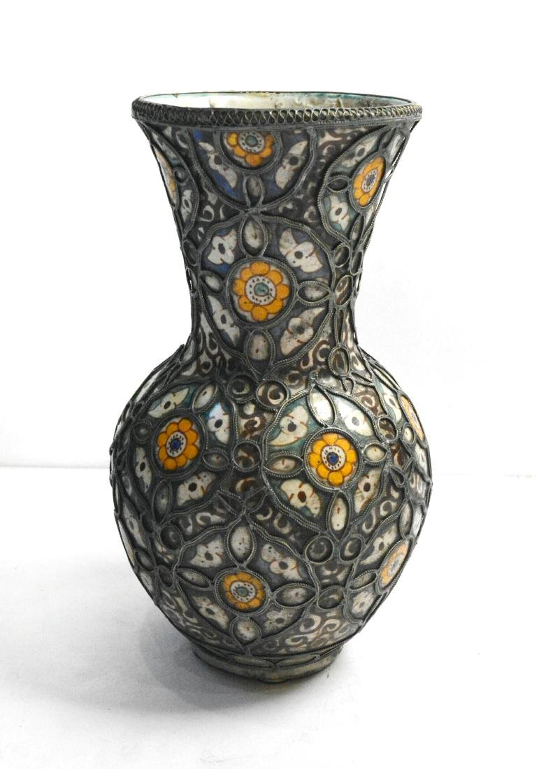 Moroccan Style Pottery Vase
