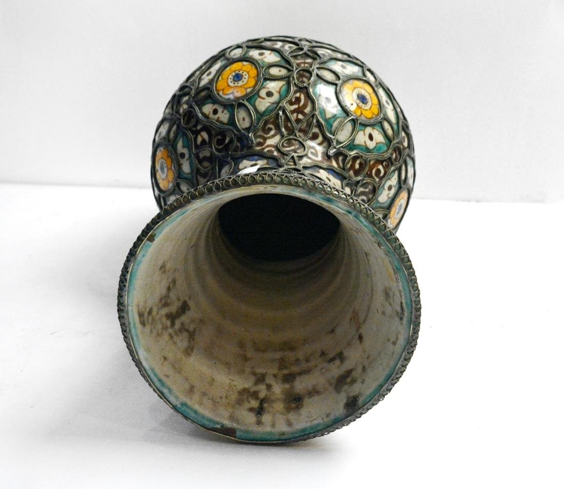 Moroccan Style Pottery Vase - 2