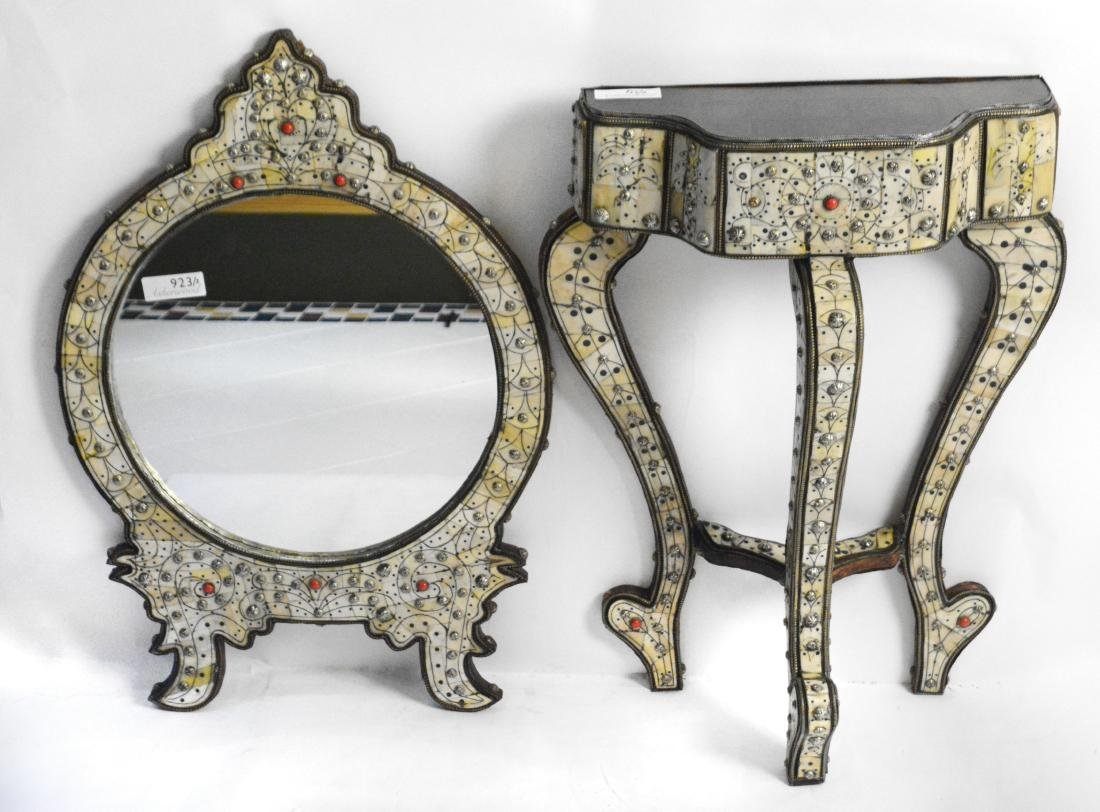 Moroccan Hall Table and Mirror