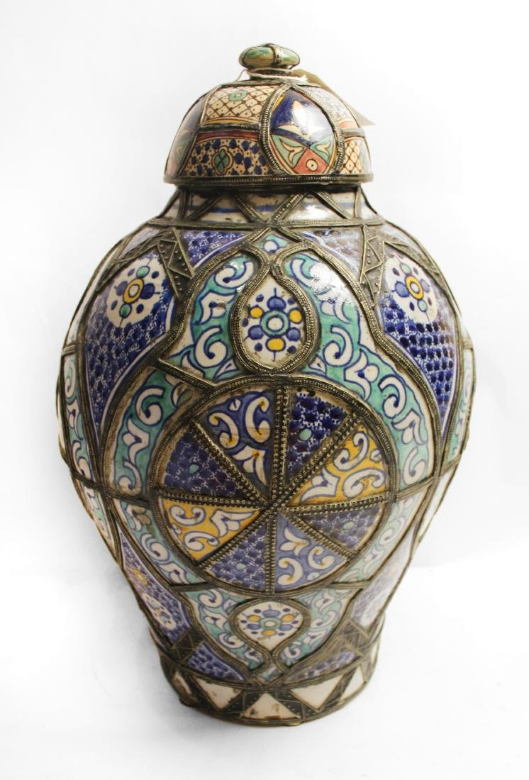 Moroccan Covered Pottery Jars - 3