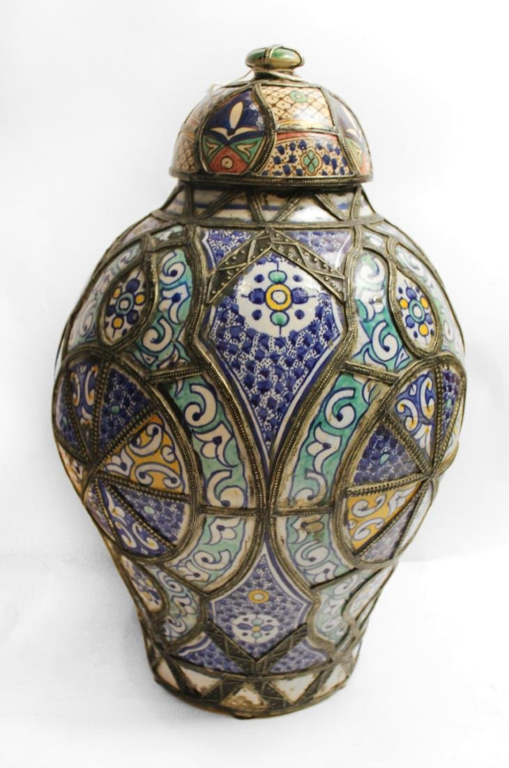 Moroccan Covered Pottery Jars - 4