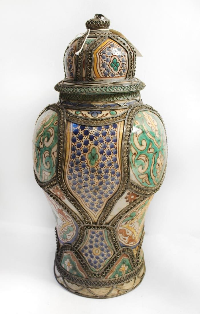 Moroccan Covered Pottery Jars - 5