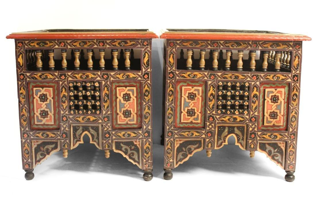 Pair Moorish End Tables