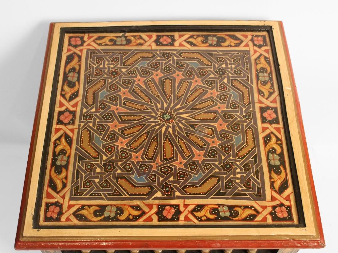 Pair Moorish End Tables - 3