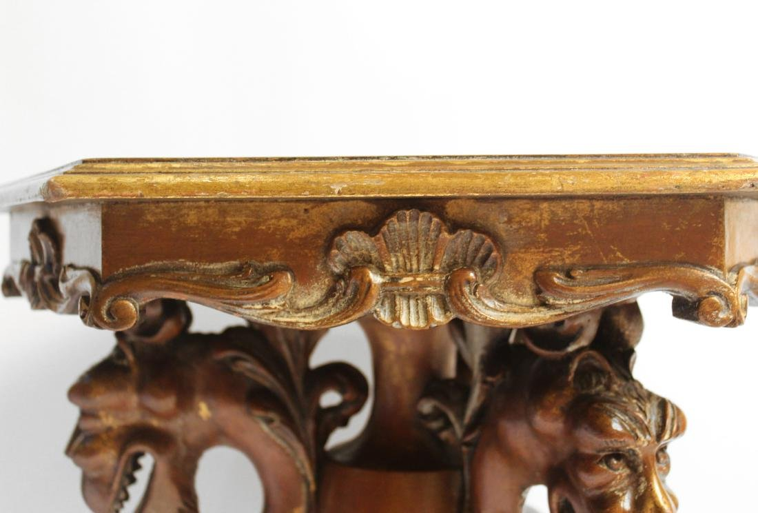 Burled Walnut Hexagonal Gargoyle Table - 3