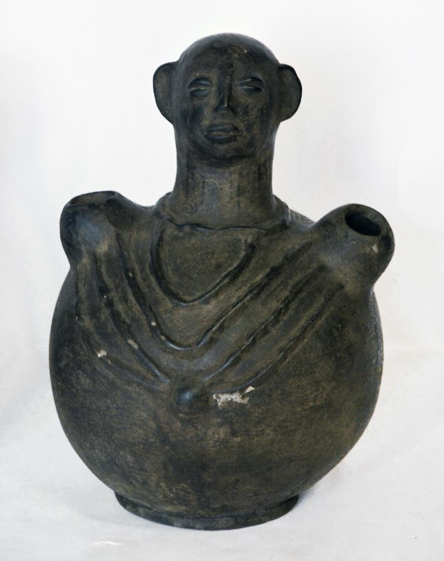 Stoneware African Figural Water Jars (2) - 2