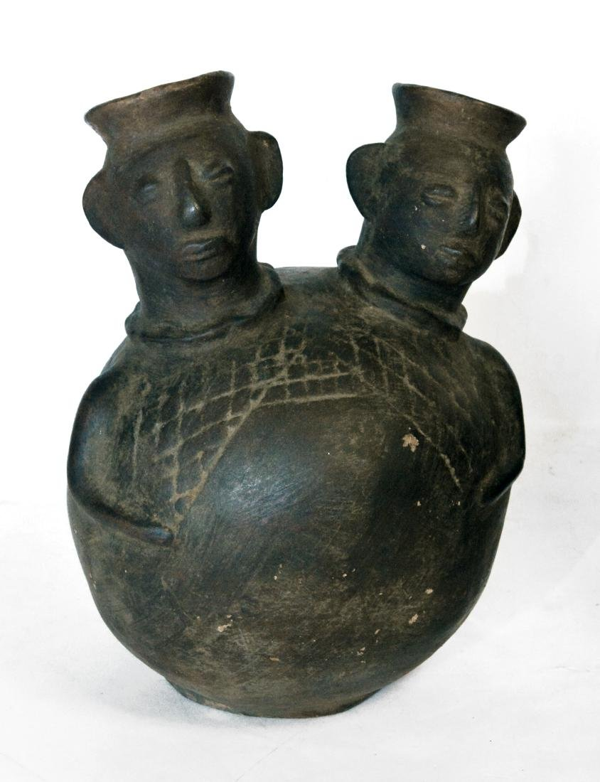 Stoneware African Figural Water Jars (2) - 3