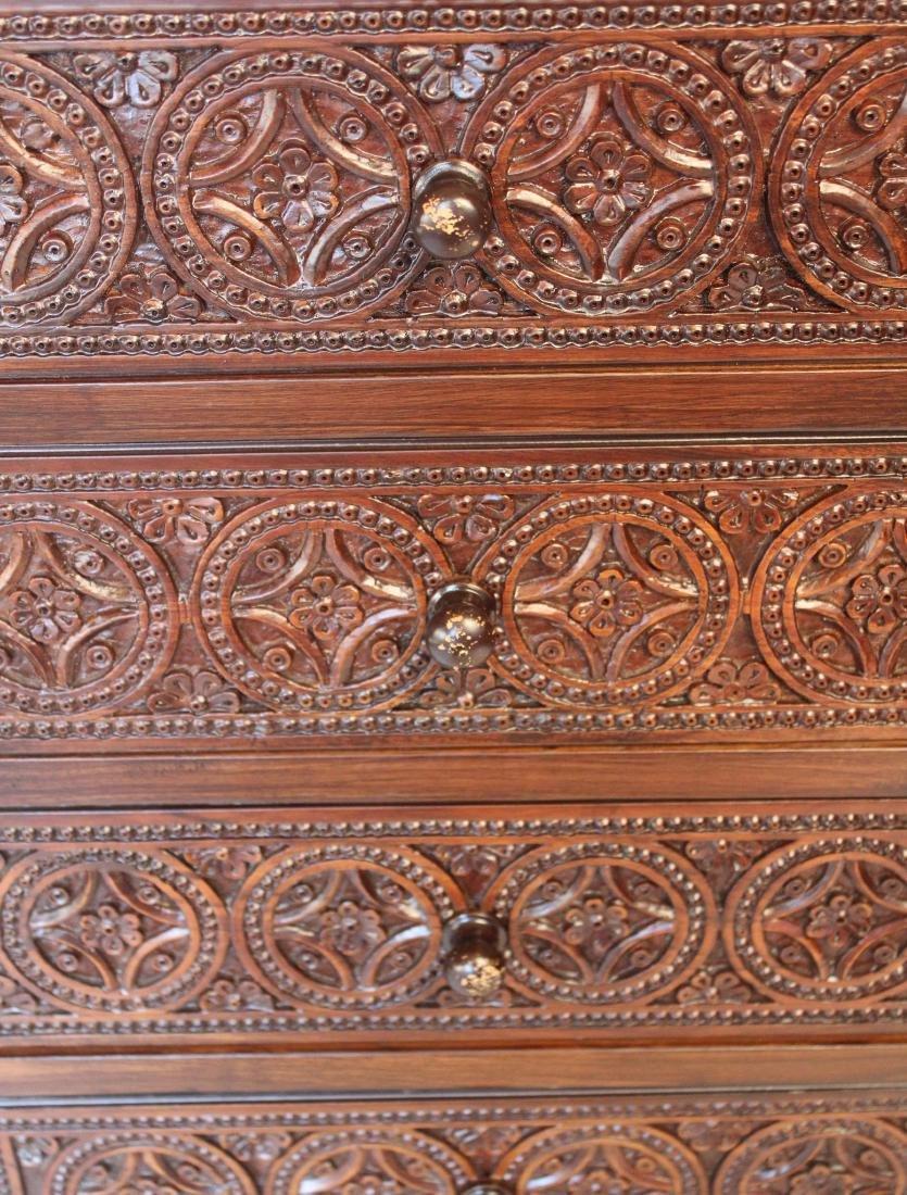 Pair of Moorish Carved Night Stands - 4