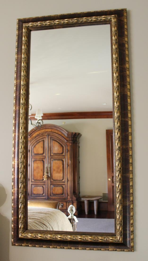 Pair of Gilt and Painted Mirrors