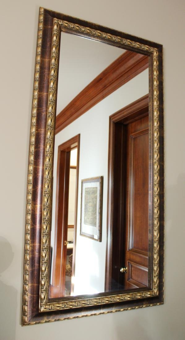 Pair of Gilt and Painted Mirrors - 2