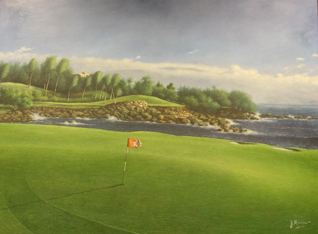 Golf Course Oil Paintings (3) - 5