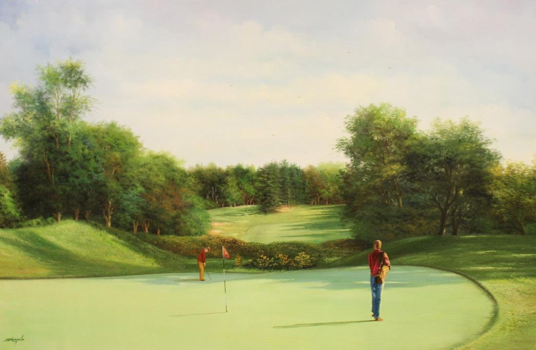 Golf Course Oil Paintings (3) - 8