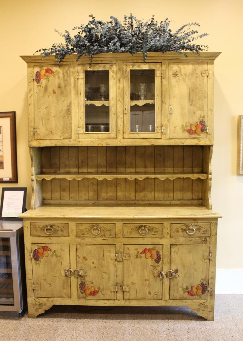 Paint Decorated Country Cabinet