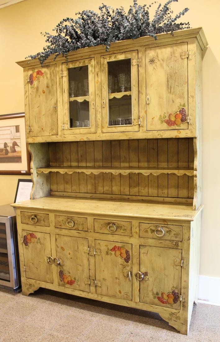 Paint Decorated Country Cabinet - 2