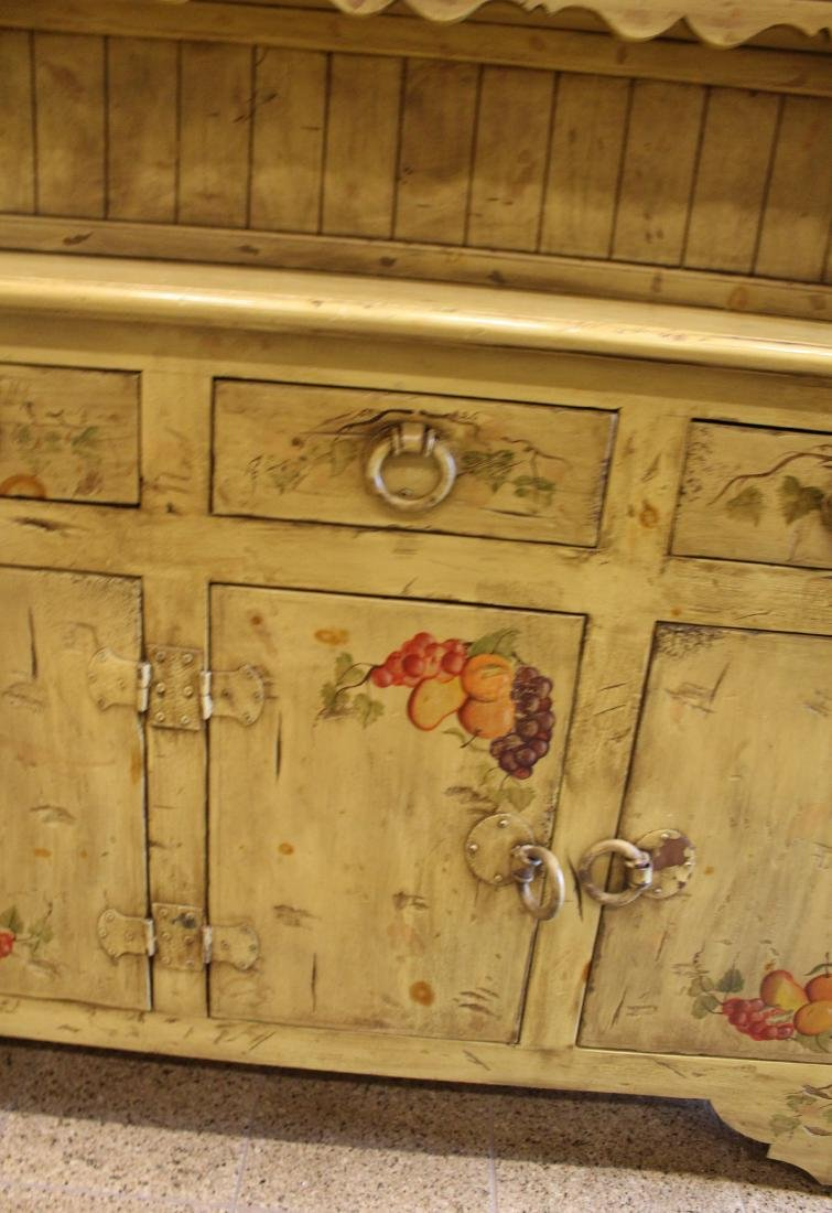 Paint Decorated Country Cabinet - 5