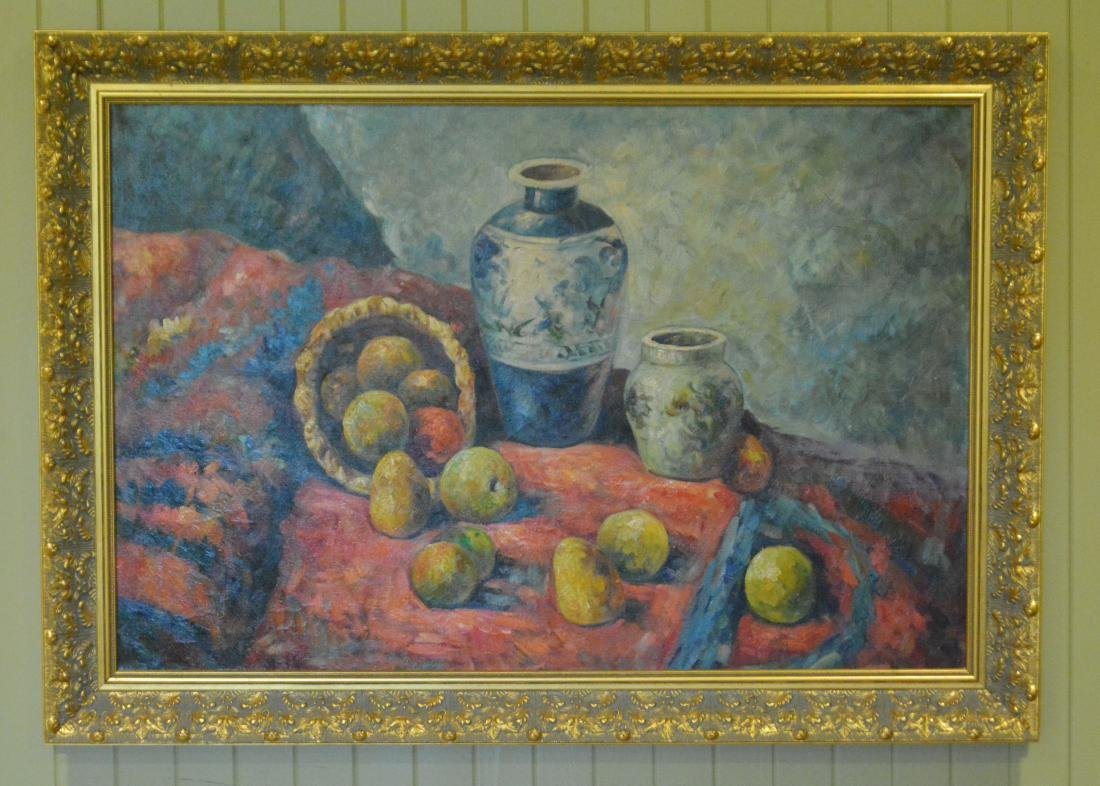 Oil Painting. Unsigned. Impressionist Still Life