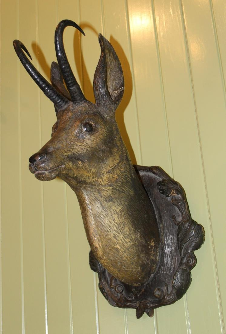 Carved Antelope Head with Horns