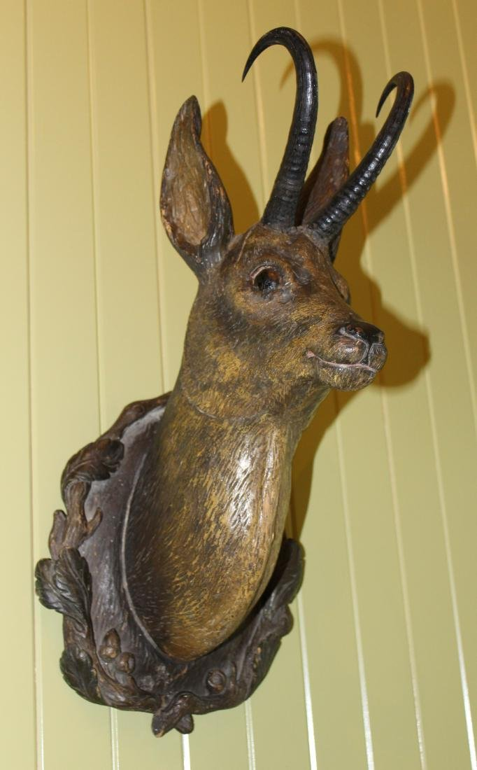 Carved Antelope Head with Horns - 2