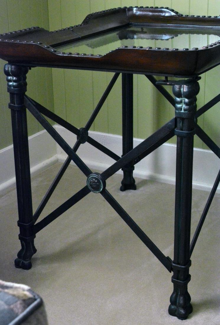 Glass Top Side Table - 2