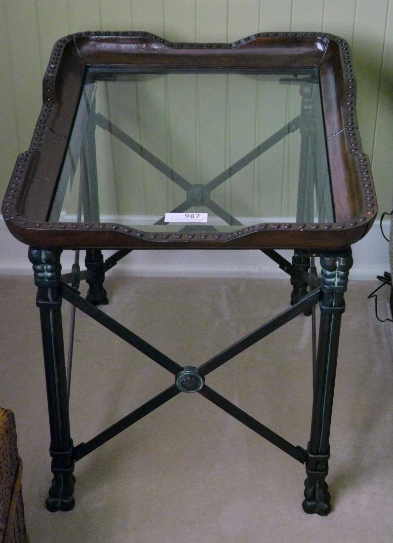Glass Top Side Table - 3