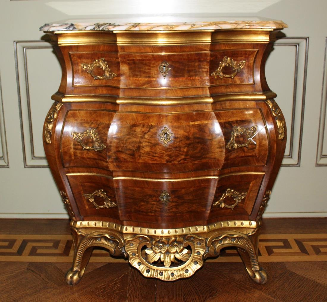 French Influence Bombe Chest