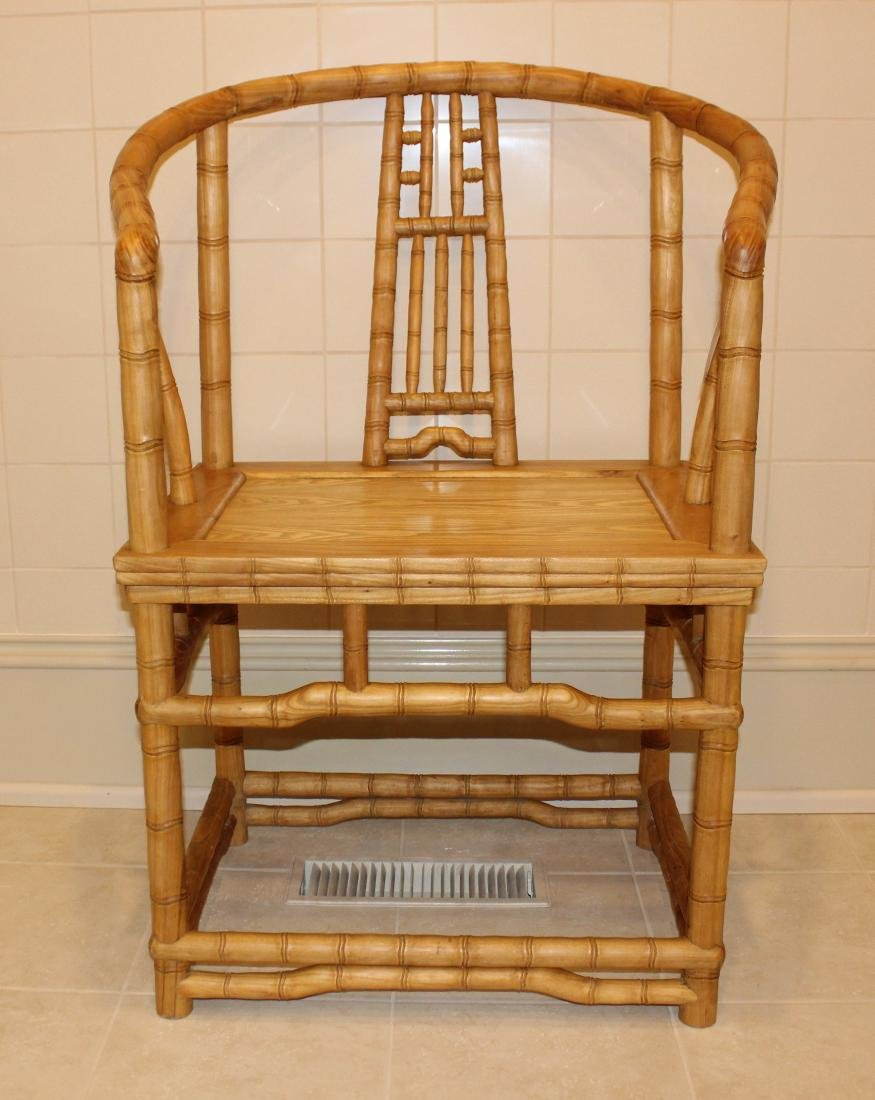 Pair of Bamboo Armchairs