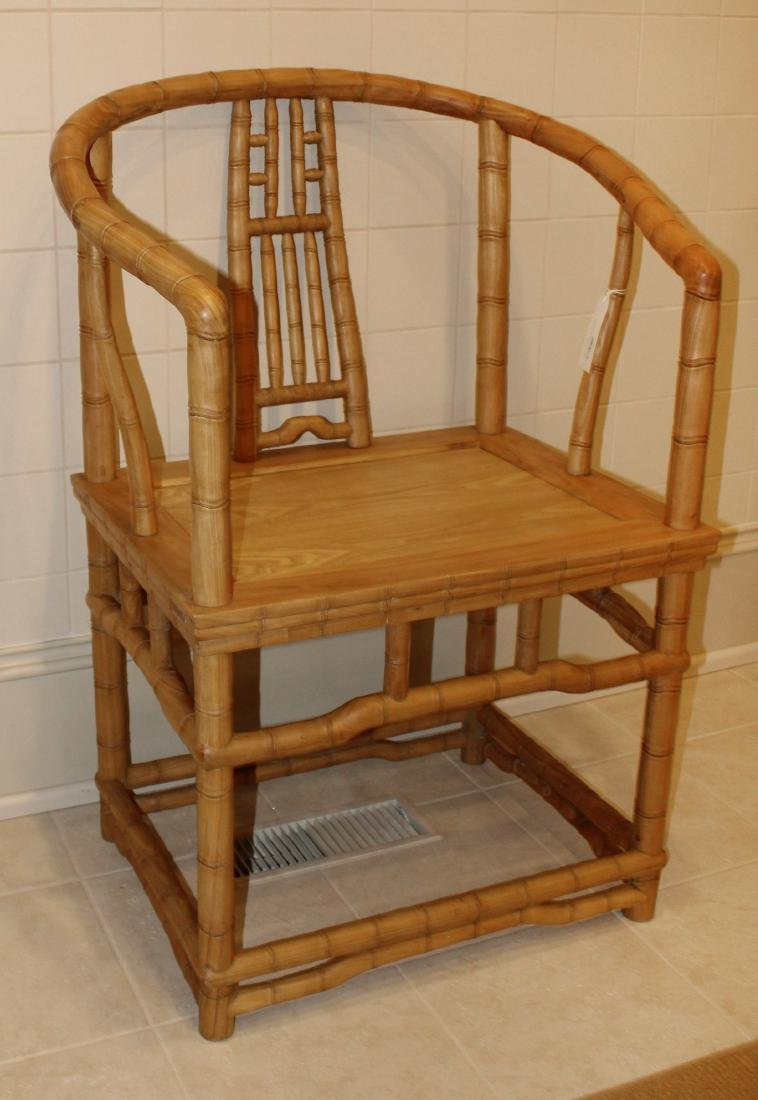 Pair of Bamboo Armchairs - 2