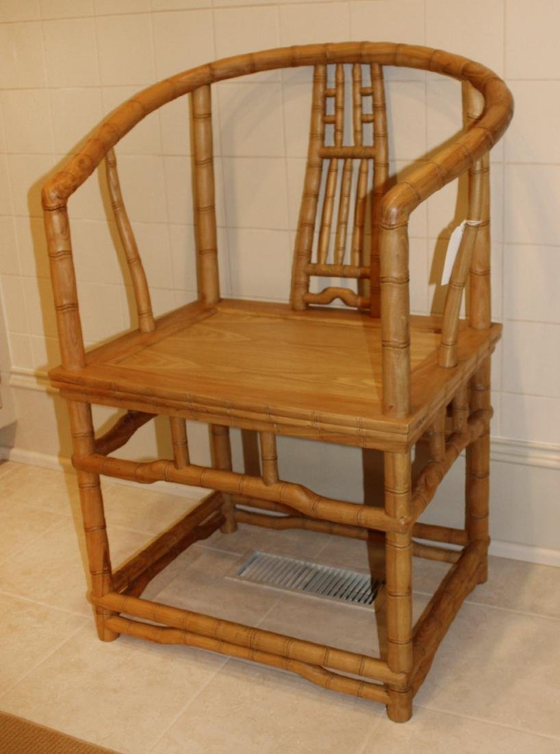 Pair of Bamboo Armchairs - 3