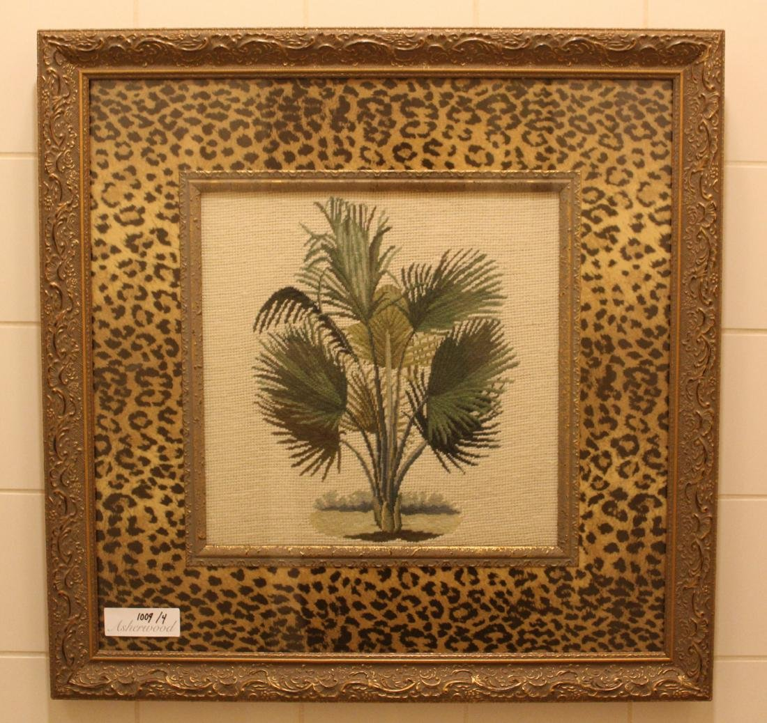 Emboidered Palm Wall Hangings (4)