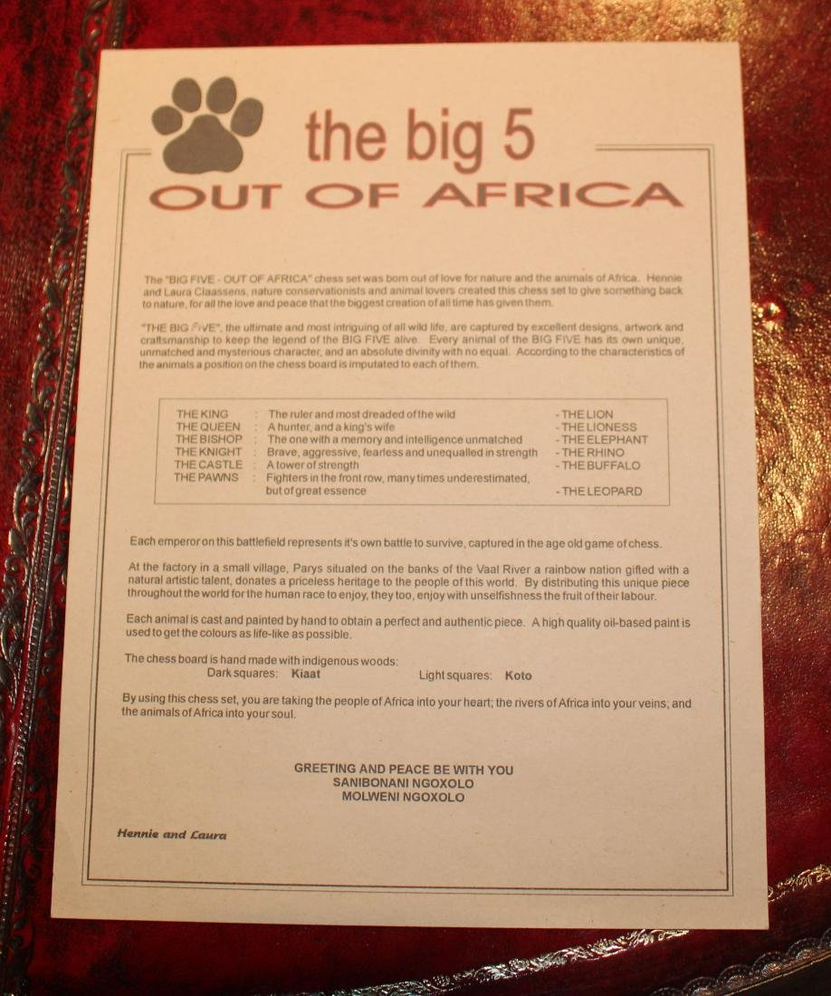 Out of Africa Chess Set - 3