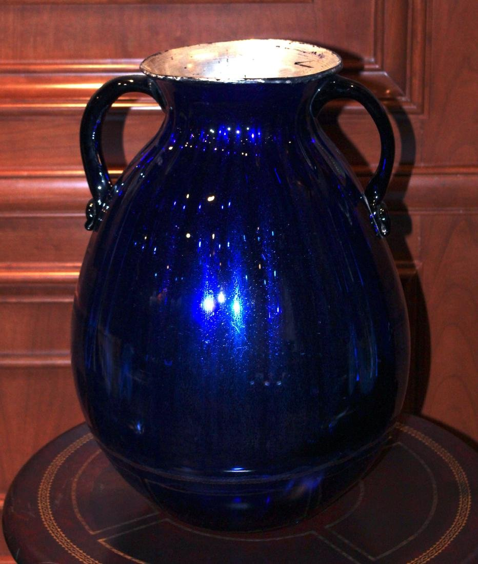 Blue Handblown Glass Jug - 2