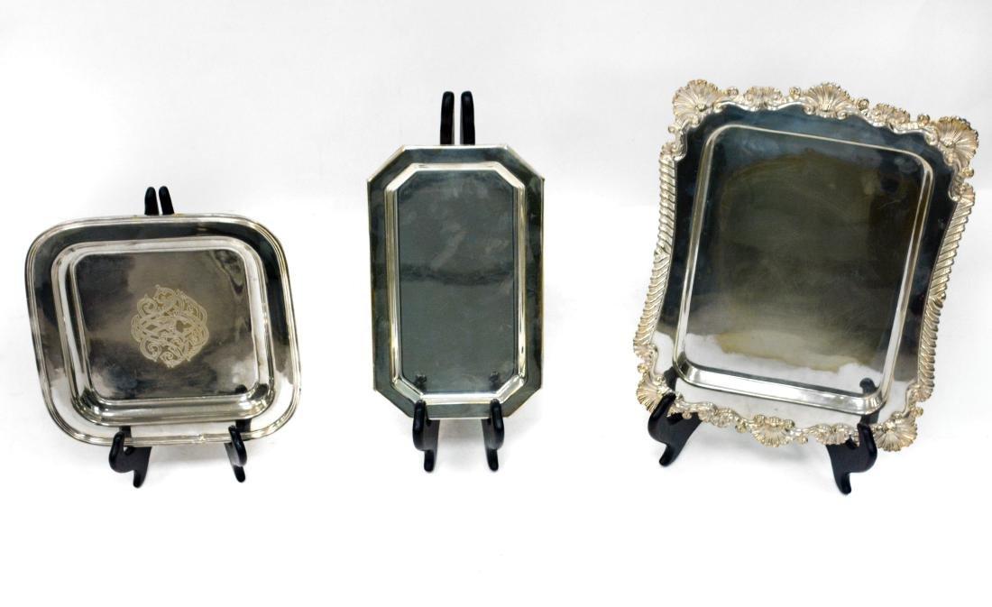 Rectangular Silver Dishes (3)