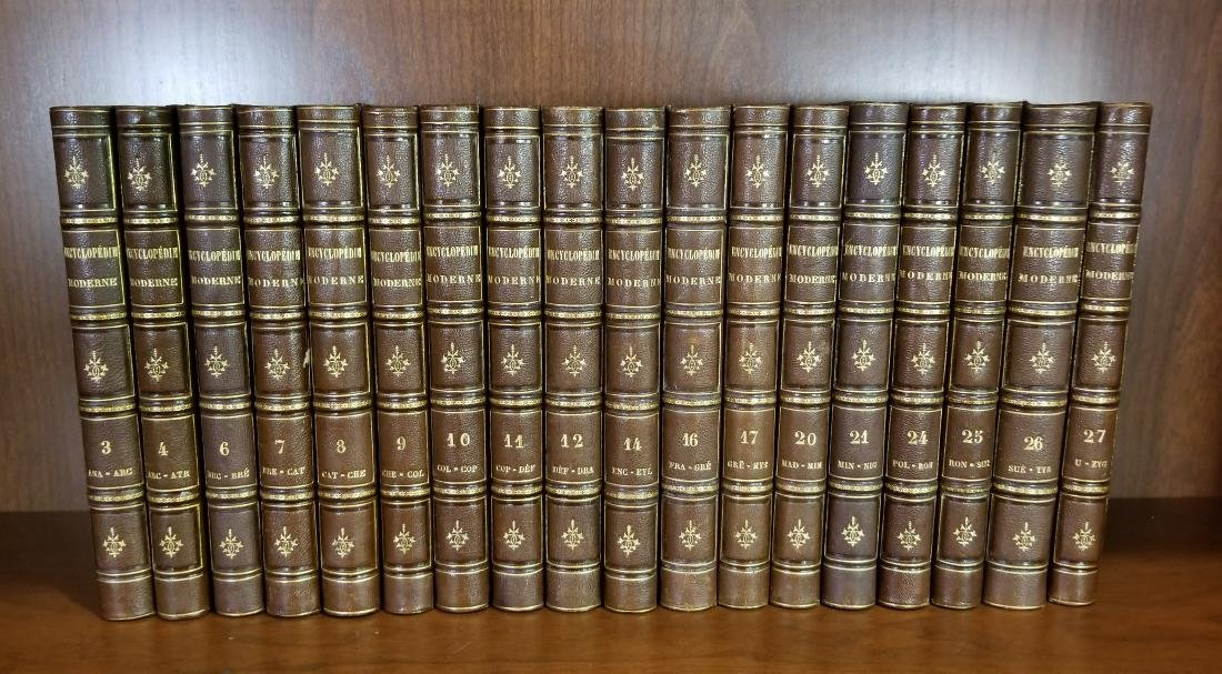 Encyclopedie Moderne, Decorative Leather Bound Volumes