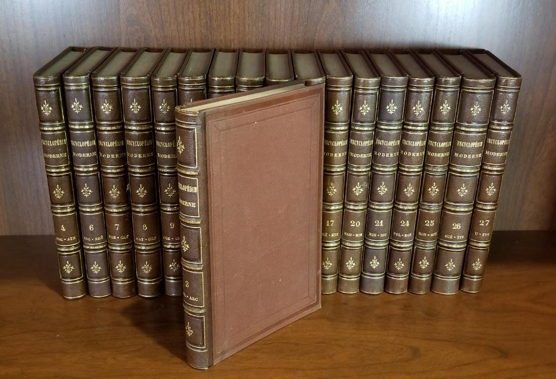 Encyclopedie Moderne, Decorative Leather Bound Volumes - 2