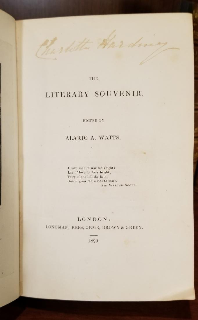 The Literary Souvenir by Alaric A. Watts Set (6) - 3