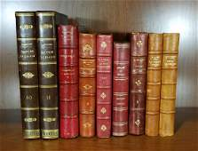 Decorative French Leather Bound Books (9)