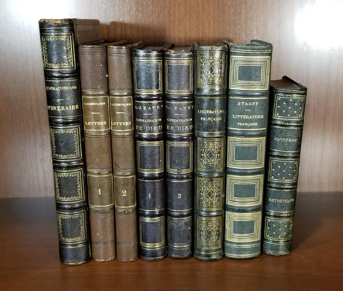Decorative French Leather Bound Books (7)